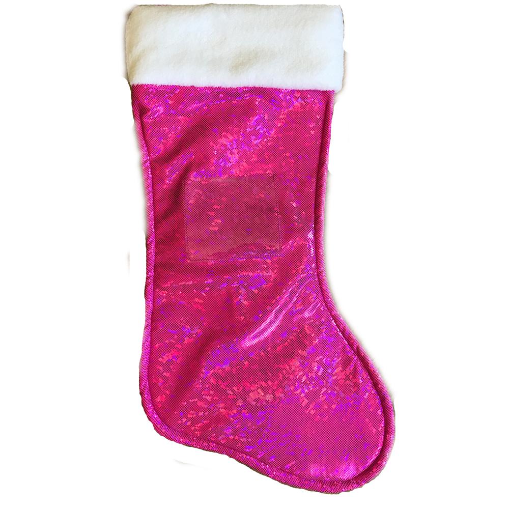 Mermaid Christmas Stocking.Boot Christmas Stocking Pink
