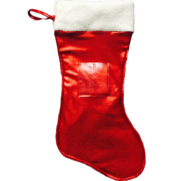 Red Christmas Stocking.Boot Christmas Stocking Cherry Red